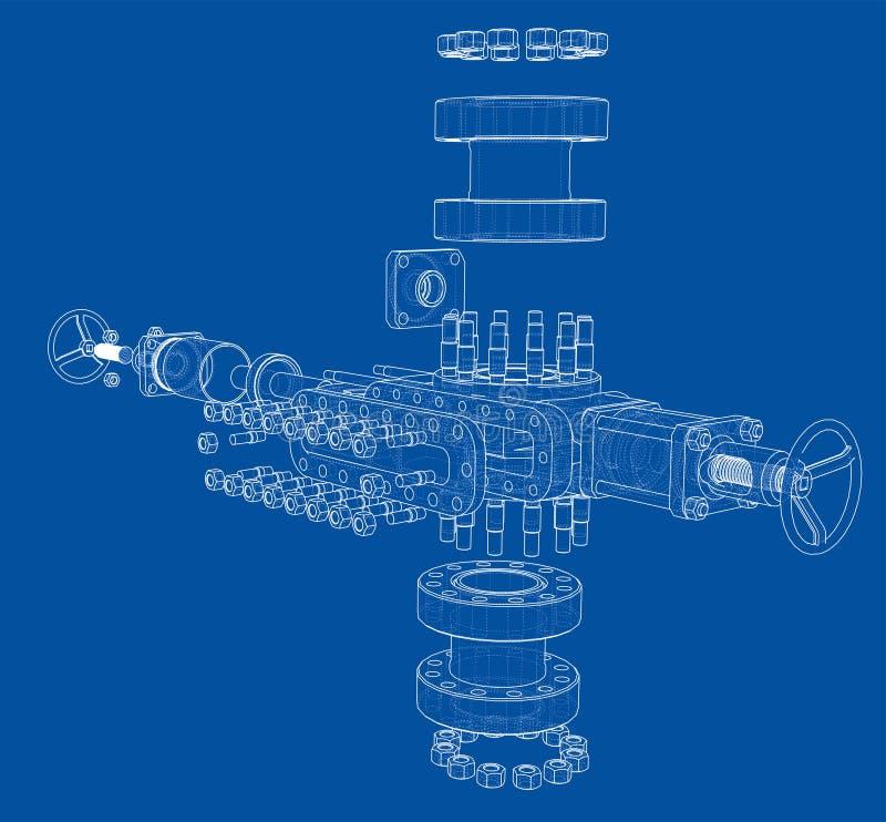 Ausblasenverhinderer Vektor-Wiedergabe von 3d lizenzfreie abbildung