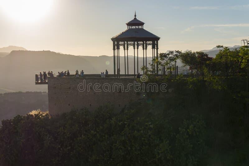 Ausblick in Ronda-Stadt, Màlaga, Spanien stockbild