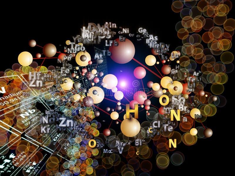 Ausbreiten der chemischen Elemente lizenzfreie abbildung