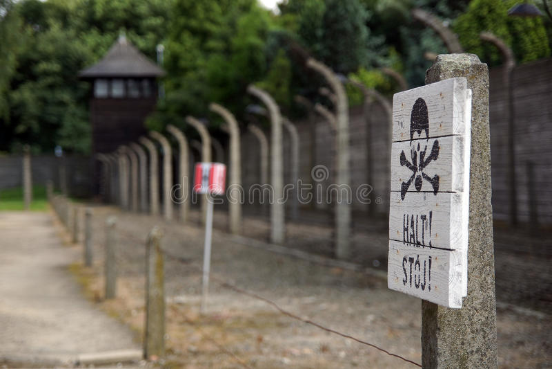 Auschwitz - στρατόπεδο συγκέντρωσης στοκ φωτογραφία με δικαίωμα ελεύθερης χρήσης