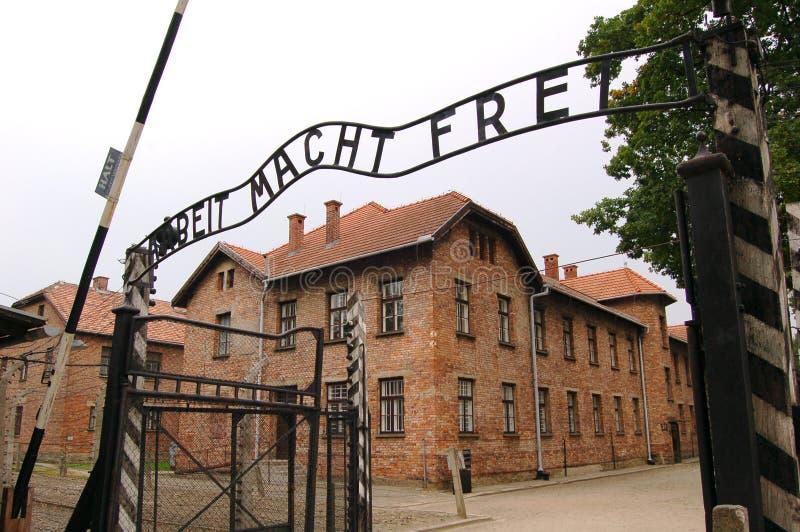 Auschwitz immagine stock libera da diritti