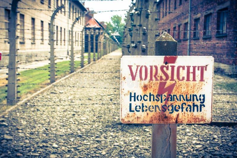 Auschwitz arkivbild