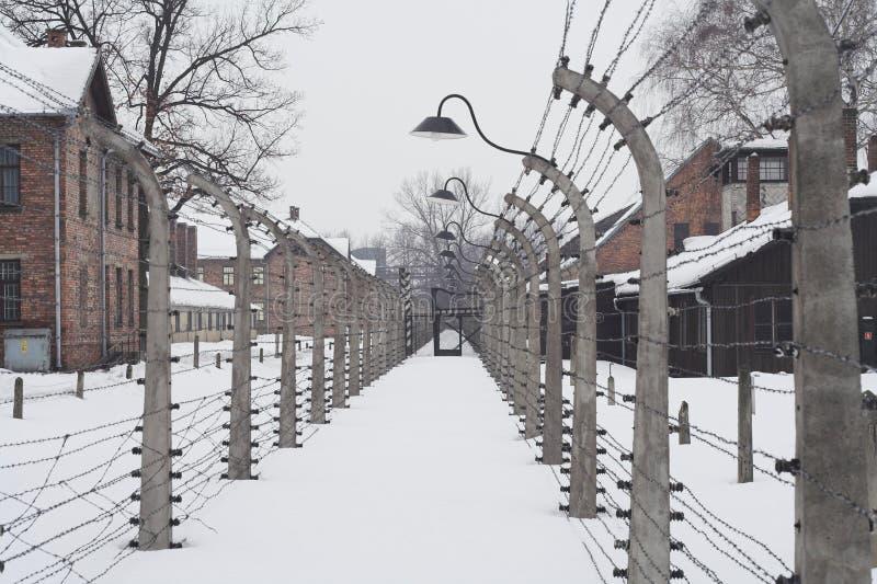 Auschwitz stock afbeelding