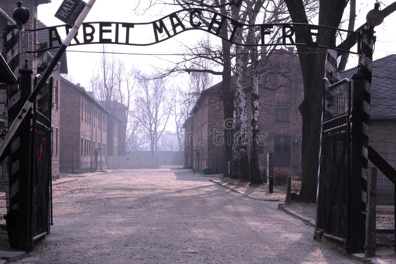 (1) Auschwitz obrazy royalty free
