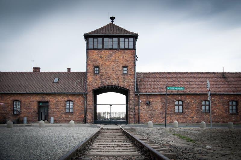 auschwitz birkenau阵营浓度 免版税库存照片