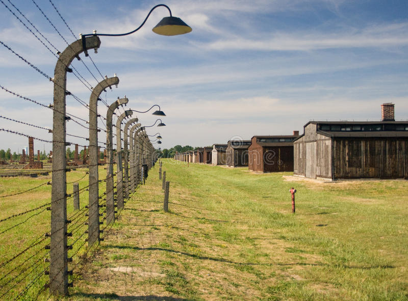 Auschwitz-Birkenau. Camp in Poland. Picture of the a sign indicating block 20 stock photography