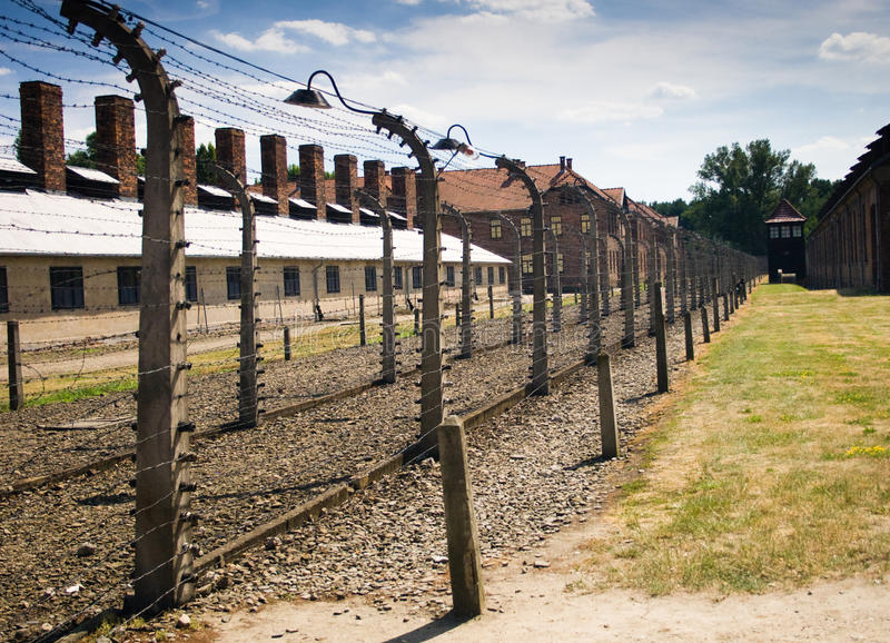 Auschwitz-Birkenau. Camp in Poland. Picture of the a sign indicating block 20 royalty free stock photo