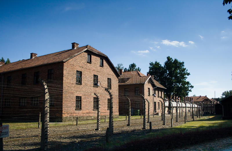 Auschwitz-Birkenau. Camp in Poland. Picture of the office block stock photo