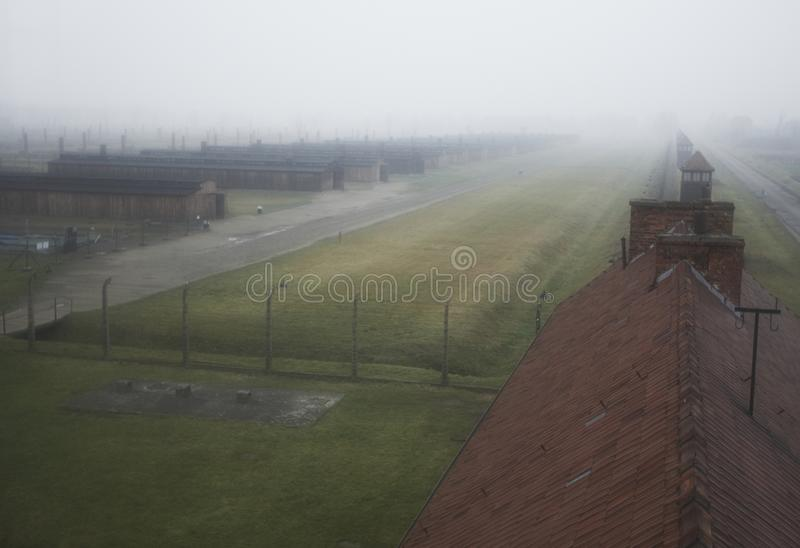 Auschwitz - Birkenau stock photo