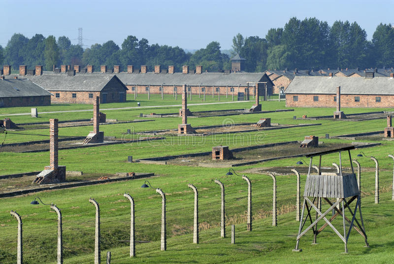 Auschwitz Birkenau fotografie stock