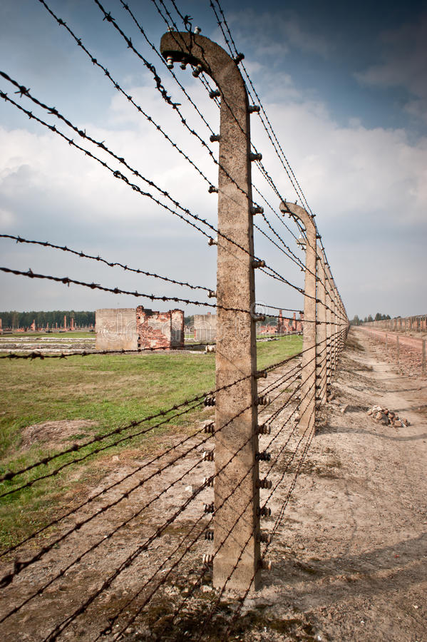 Auschwitz Birkenau. Extermination camp, Auschwitz Birkenau ,Poland stock images