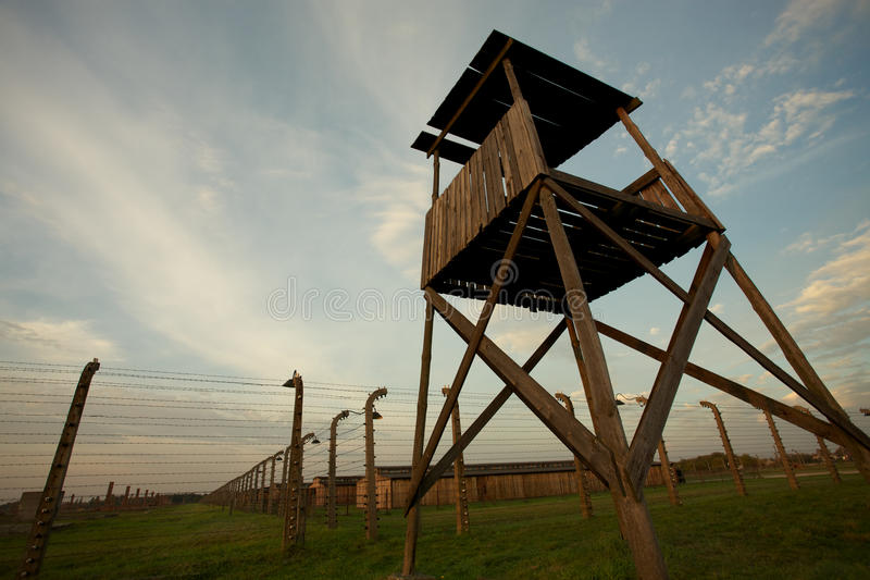 Auschwitz-Birkenau Concentration Camp. Mirador in Auschwitz Birkenau concentration camp royalty free stock images