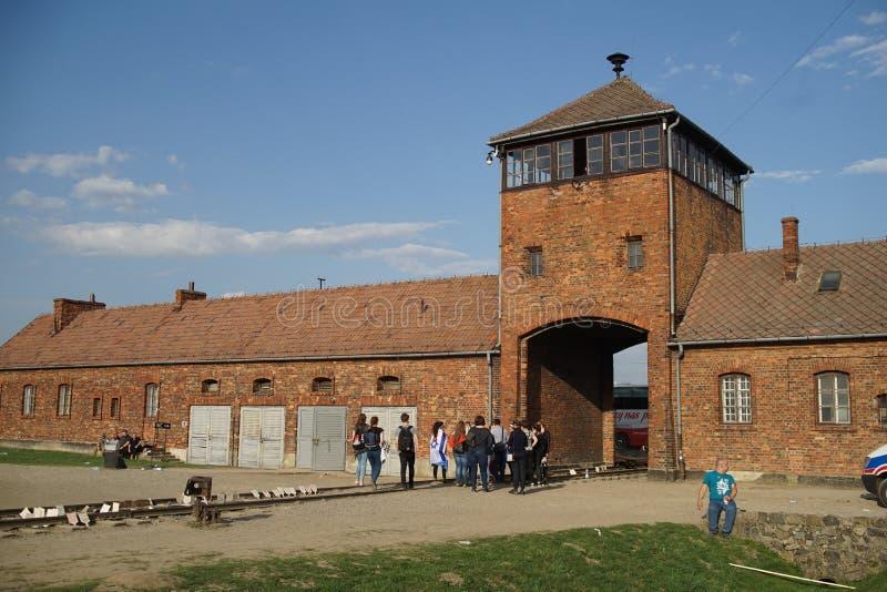 Auschwitz Birkenau, the death camp gate. Birkenau, the death camp gate royalty free stock photos