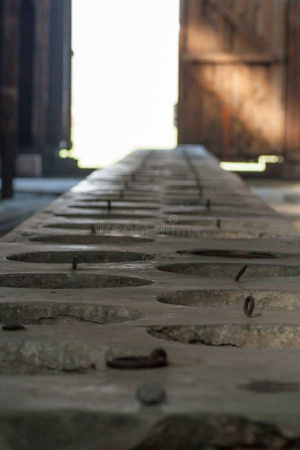 Auschwitz Birkenau - dentro das casernas foto de stock royalty free