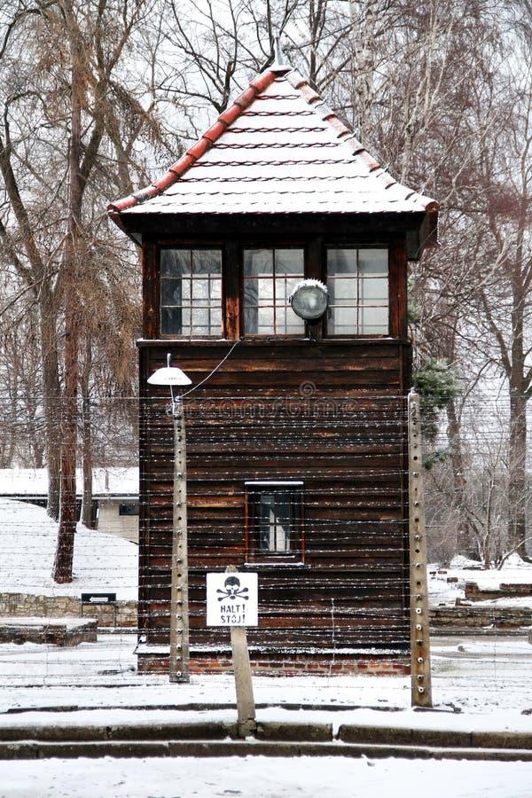 Auschwitz Birkenau Koncentracyjny obóz obraz stock