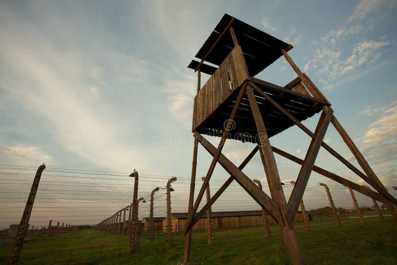 Auschwitz-Birkenau koncentrationsläger royaltyfria bilder