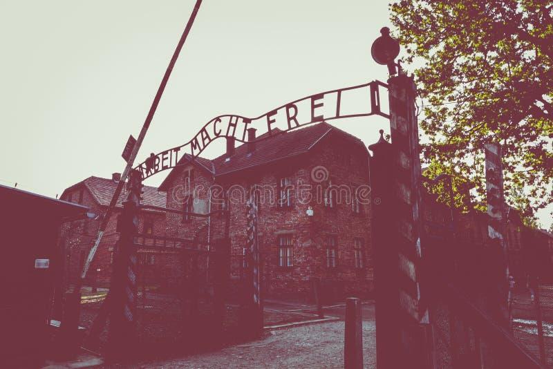 AUSCHWITZ-BIRKENAU, POLAND - AUGUST 12, 2019: Holocaust Memorial Museum. Part of Auschwitz- Birkenau Concentration Camp Holocaust. AUSCHWITZ-BIRKENAU, POLAND stock photos