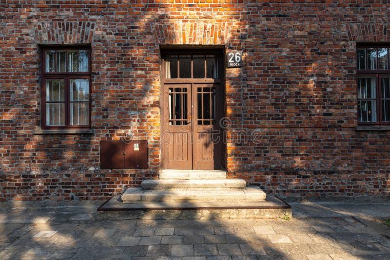 AUSCHWITZ-BIRKENAU, POLAND - AUGUST 12, 2019: Holocaust Memorial Museum. Part of Auschwitz- Birkenau Concentration Camp Holocaust. Memorial Museum. Jewish royalty free stock photography