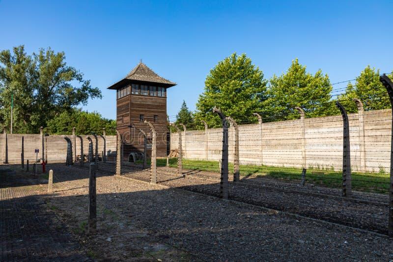 AUSCHWITZ-BIRKENAU, POLAND - AUGUST 12, 2019: Holocaust Memorial Museum. Part of Auschwitz- Birkenau Concentration Camp Holocaust royalty free stock image
