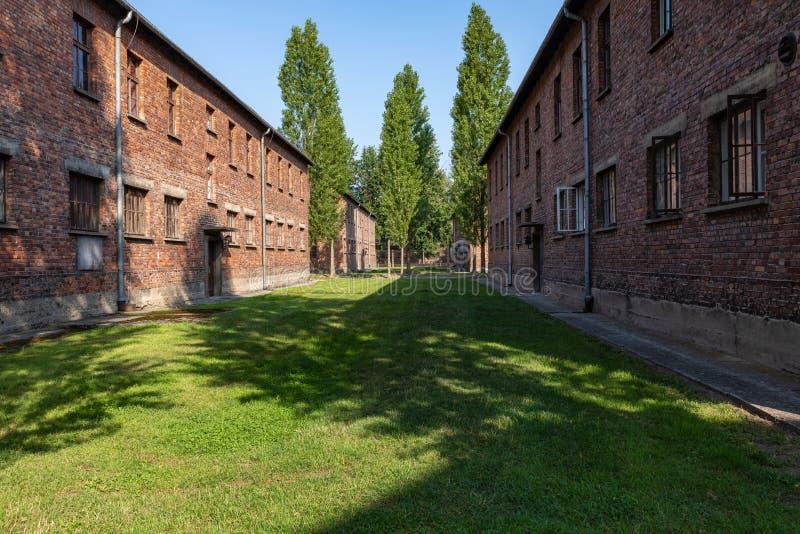 AUSCHWITZ-BIRKENAU, POLAND - AUGUST 12, 2019: Holocaust Memorial Museum. Part of Auschwitz- Birkenau Concentration Camp Holocaust. Memorial Museum. Jewish royalty free stock images