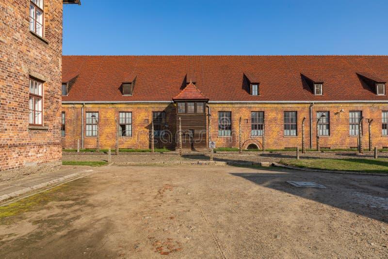 AUSCHWITZ-BIRKENAU, POLAND - AUGUST 12, 2019: Holocaust Memorial Museum. Part of Auschwitz- Birkenau Concentration Camp Holocaust. Memorial Museum. Jewish stock photography