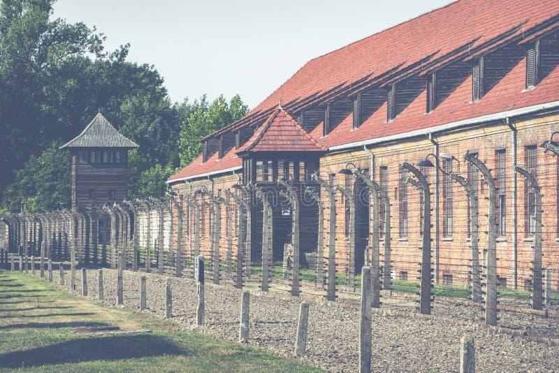 AUSCHWITZ-BIRKENAU, POLAND - AUGUST 12, 2019: Holocaust Memorial Museum. Part of Auschwitz- Birkenau Concentration Camp Holocaust. Memorial Museum. Jewish stock images