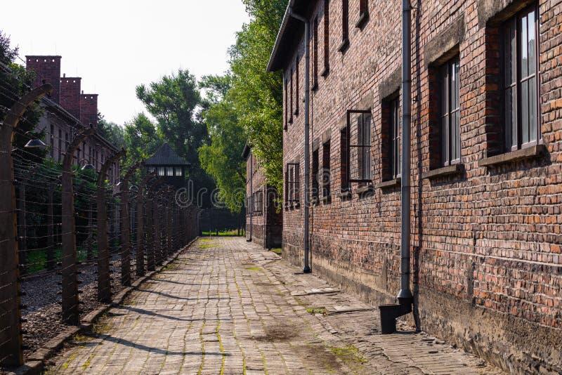 AUSCHWITZ-BIRKENAU, POLAND - AUGUST 12, 2019: Holocaust Memorial Museum. Part of Auschwitz- Birkenau Concentration Camp Holocaust. Memorial Museum. Jewish royalty free stock photo