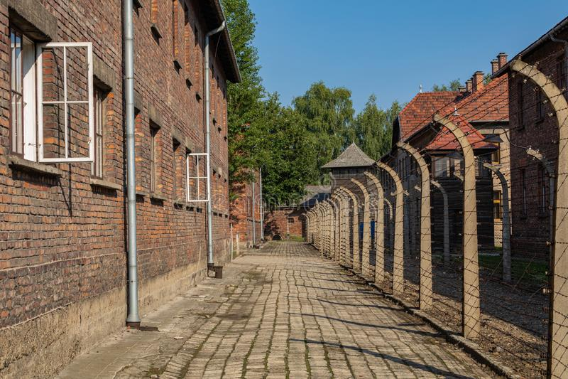 AUSCHWITZ-BIRKENAU, POLAND - AUGUST 12, 2019: Holocaust Memorial Museum. Part of Auschwitz- Birkenau Concentration Camp Holocaust. Memorial Museum. Jewish stock photos
