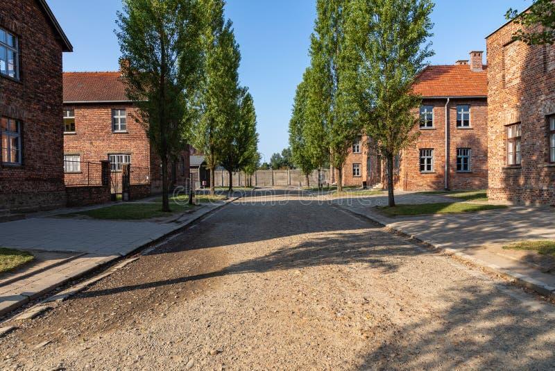 AUSCHWITZ-BIRKENAU, POLAND - AUGUST 12, 2019: Holocaust Memorial Museum. Part of Auschwitz- Birkenau Concentration Camp Holocaust. Memorial Museum. Jewish stock photo