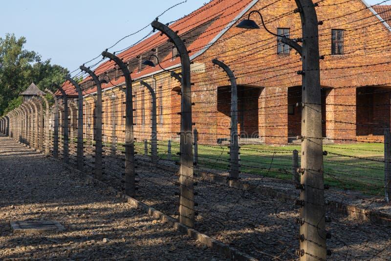 AUSCHWITZ-BIRKENAU, POLAND - AUGUST 12, 2019: Holocaust Memorial Museum. Part of Auschwitz- Birkenau Concentration Camp Holocaust stock photos