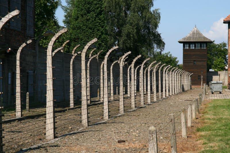 Auschwitz camp royalty free stock photo