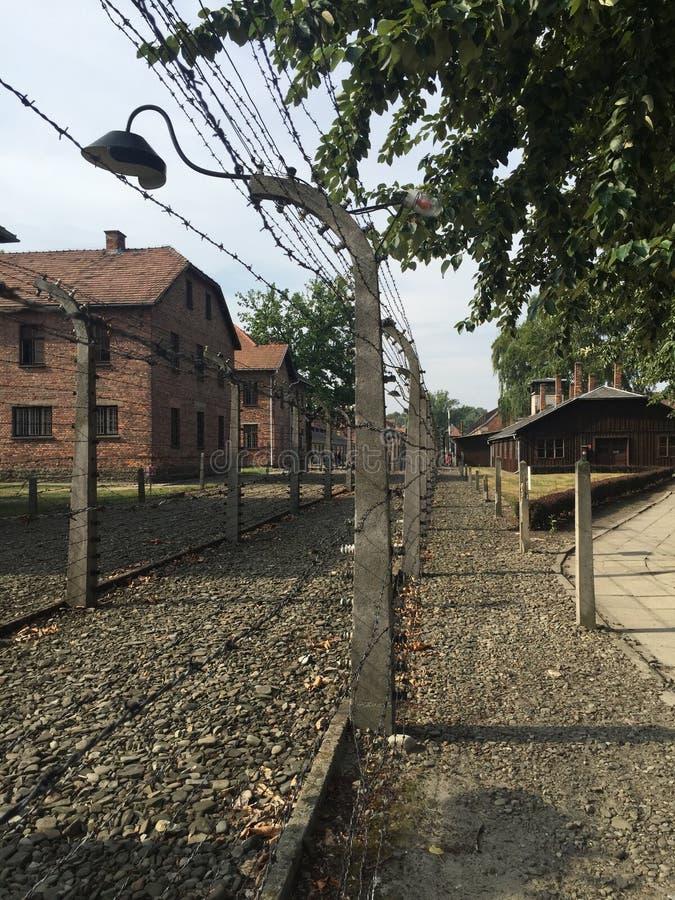 Auschwitz - cerca fotografía de archivo libre de regalías
