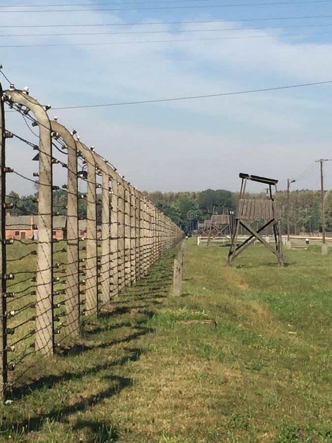 Auschwitz - cerca foto de archivo libre de regalías