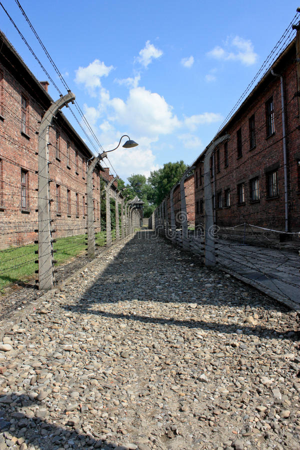 Auschwitz concentration camp in poland royalty free stock photography