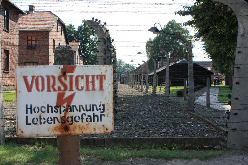 Auschwitz concentration camp in poland royalty free stock images