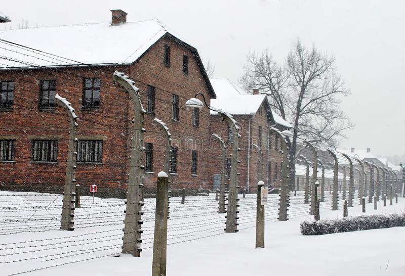 Auschwitz concentration camp was a network of concentration and extermination camps. Built and operated by Nazi Germany in occupied Poland during World War II stock photos