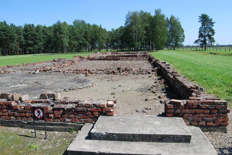Auschwitz - crematorium IV. Concentration camp Auschwitz - Birkenau in Poland royalty free stock images