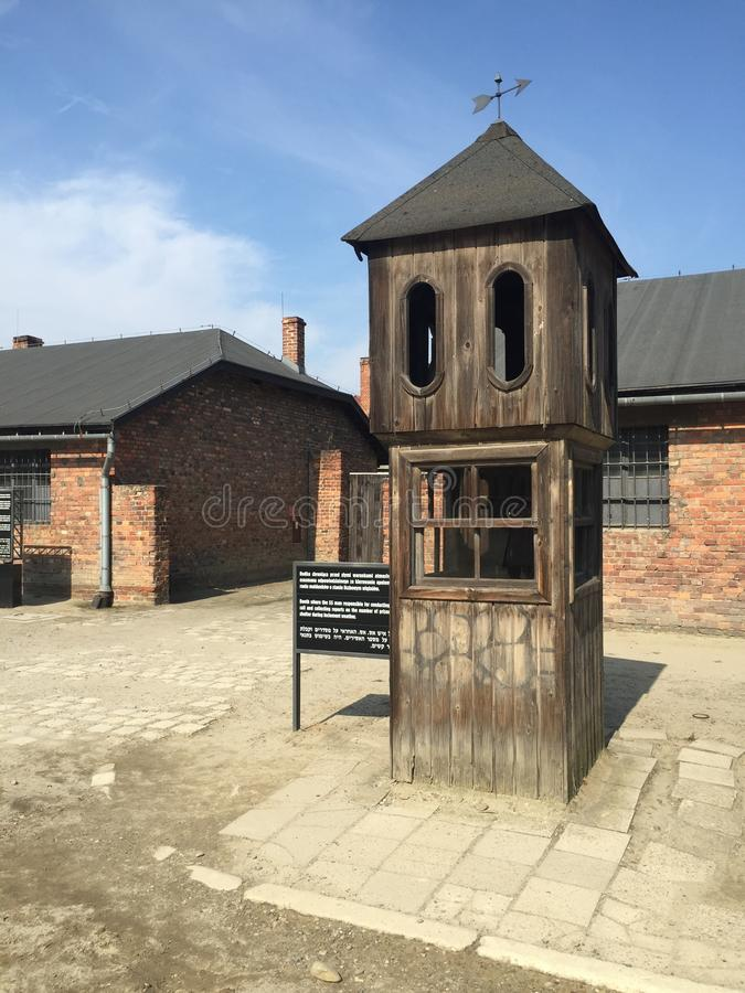 Auschwitz - cuerpo de guardia foto de archivo
