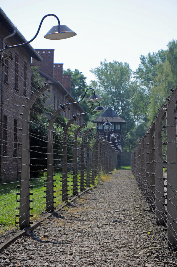 Auschwitz detail royalty free stock images