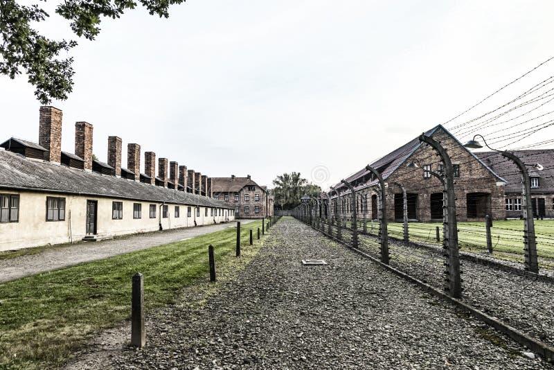 Auschwitz I auschwitz-Birkenau concentratiekamp, Oswiecim, Polen stock afbeelding