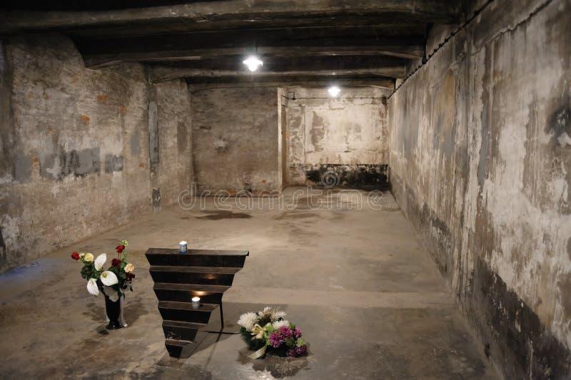 Auschwitz I - Birkenau Crematorium I. OSWIECIM, POLAND - JULY 3, 2009: Auschwitz I - Birkenau Crematorium I gas chamber considerably changed today from its stock photo