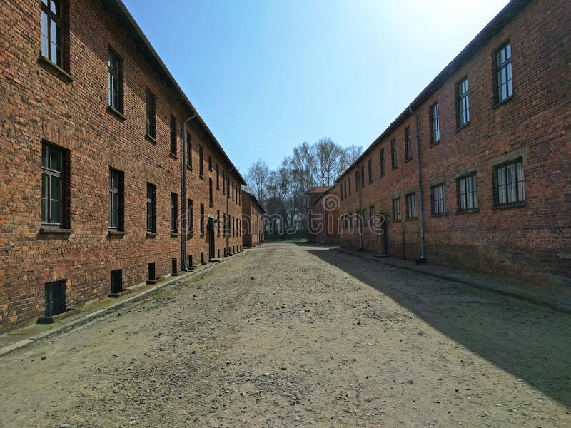 Auschwitz I - blocs de Birkenau image libre de droits