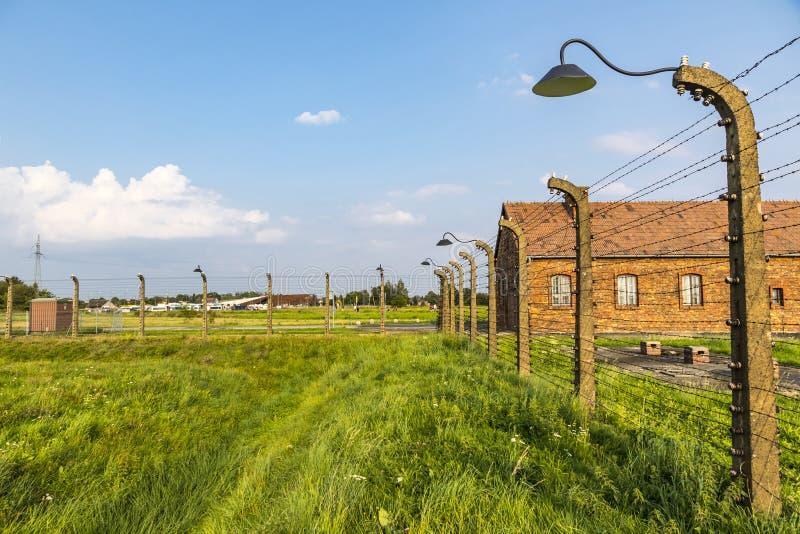 Auschwitz II†'Birkenau koncentracyjny obóz w Oswiecim, Polska obrazy royalty free