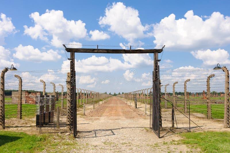 Auschwitz II - Birkenau imagens de stock