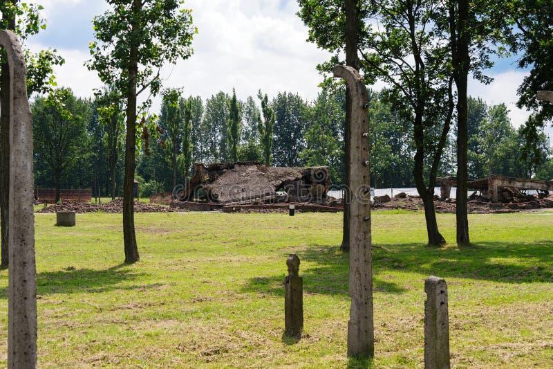 Auschwitz II - Birkenau Crematorium II obrazy stock