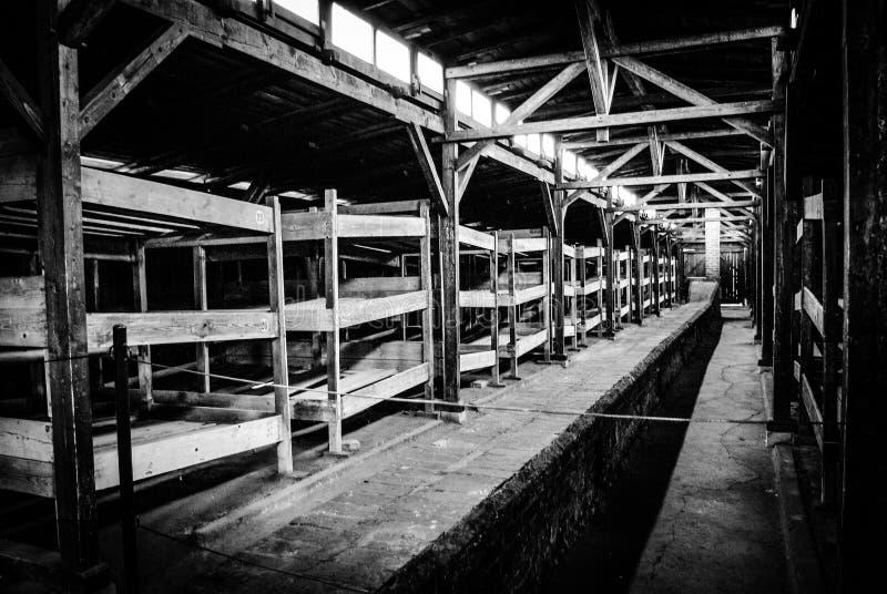 Auschwitz II - Birkenau, POLEN royaltyfri foto