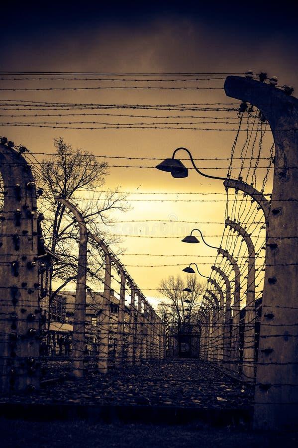 Auschwitz II - Birkenau, POLEN royaltyfri bild