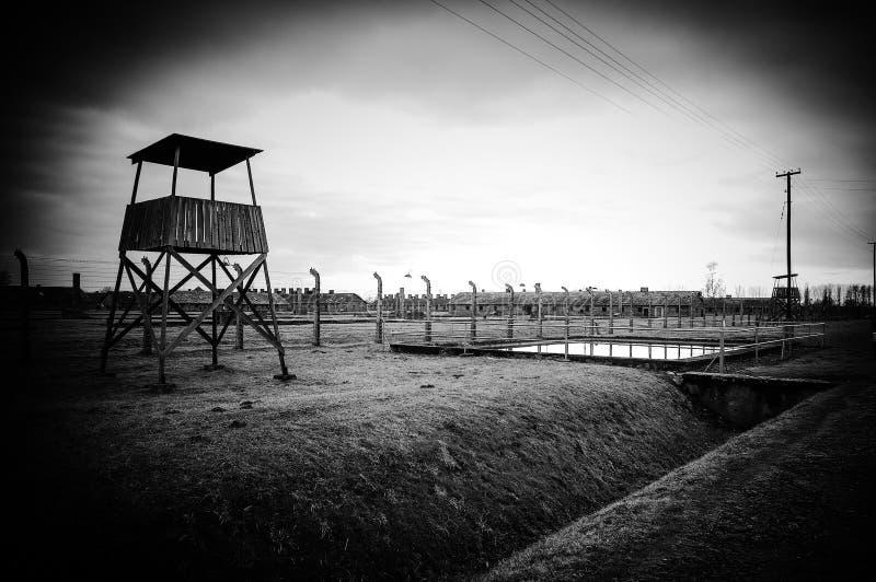 Auschwitz II - Birkenau, POLEN fotografering för bildbyråer