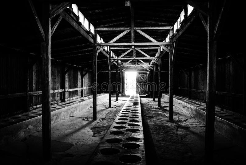 Auschwitz II - Birkenau, POLEN arkivbilder