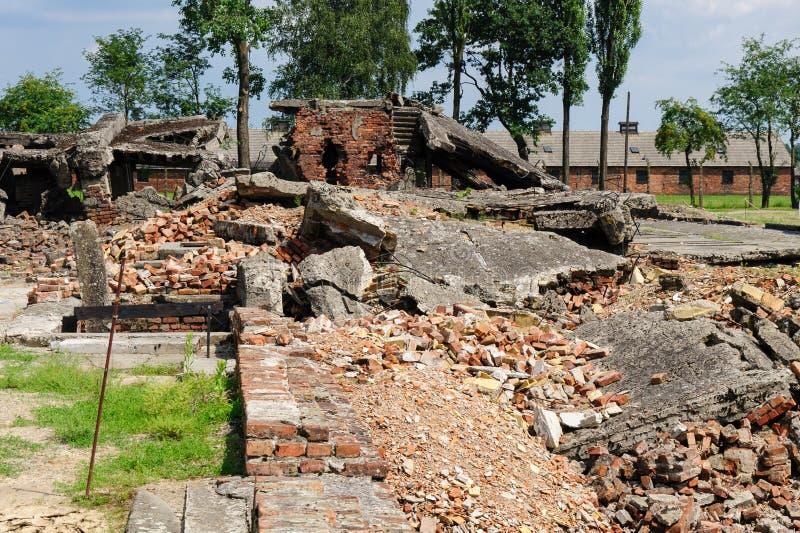 Auschwitz II - crematório II de Birkenau imagens de stock royalty free